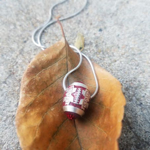 Mississippi State Bulldogs Sterling Silver Football Pendant