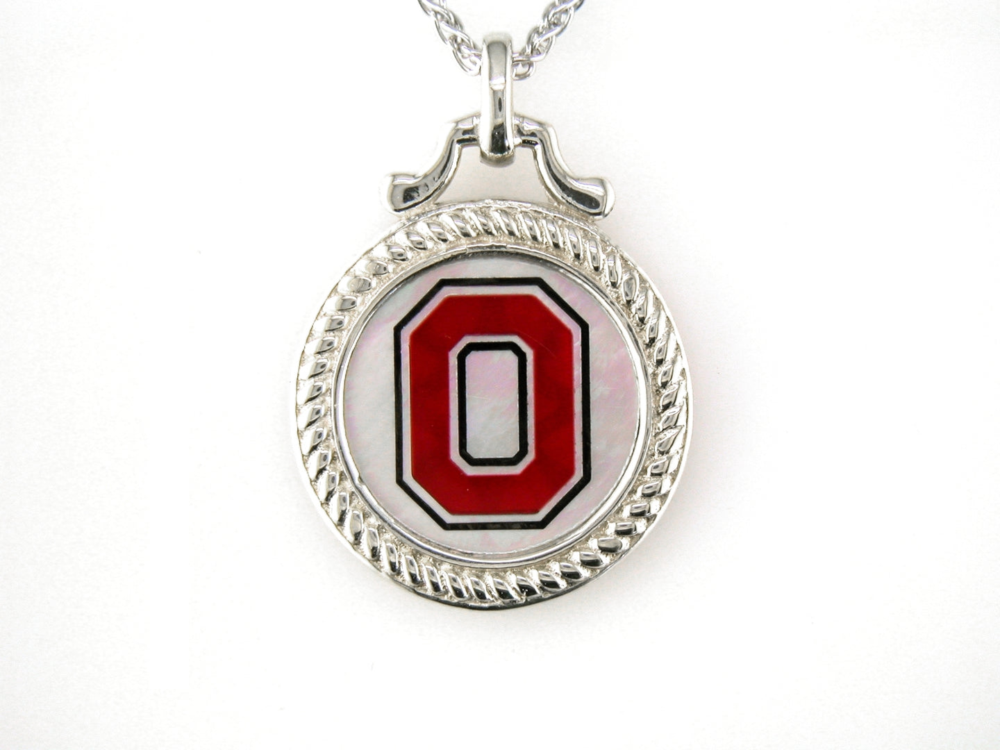 Ohio State Mother of Pearl Pendant