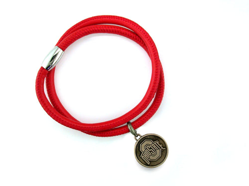 Ohio State Napa Leather Bracelet