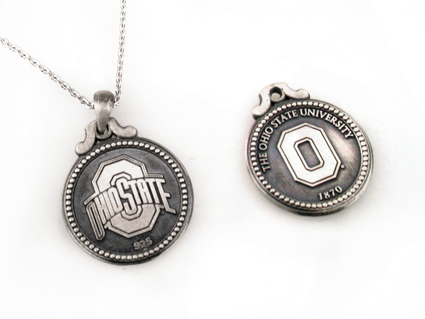 Ohio State Antique Coin Pendant