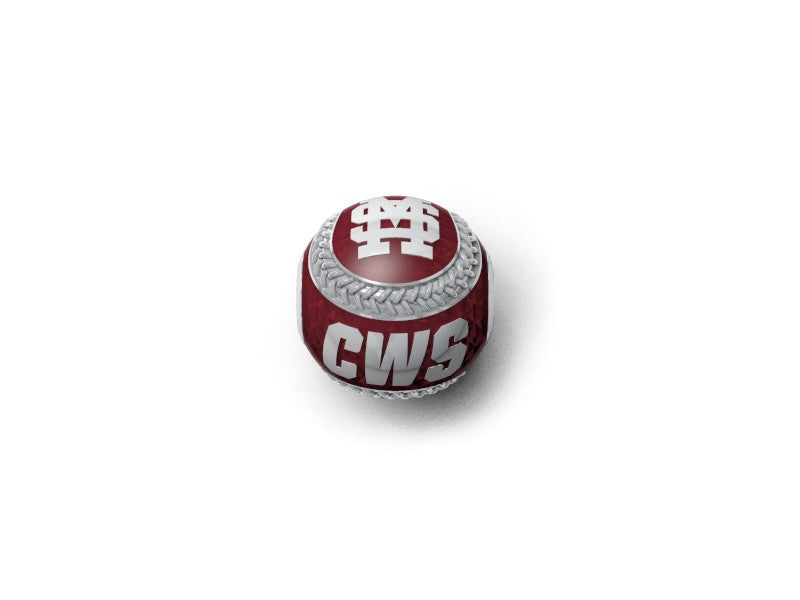 Mississippi State Bulldogs CWS Baseball Pendant/Charm