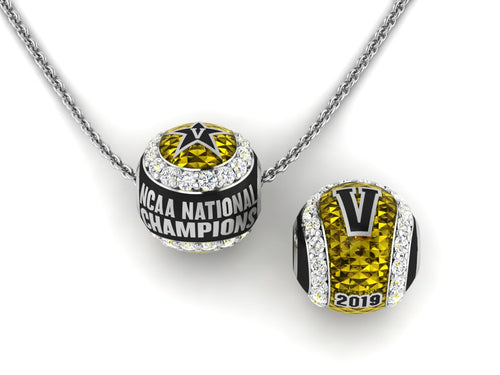 Vanderbilt National Champions Baseball Charm/Pendant with Cubic Zirconia.