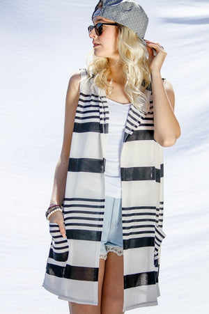 Versatile Striped Cardigan