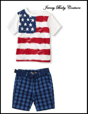 Boys Flag Short Set