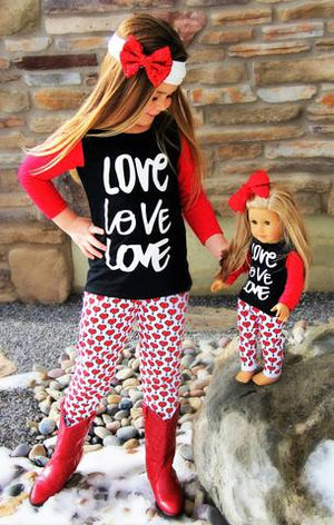 Love & Heart Pant Set