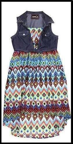 Denim Aztec Dress