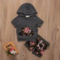 Floral Hooded Short Set