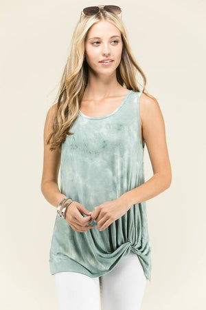 Relaxed Twisted Hem Tank - Multiple Colors