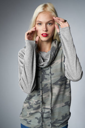 Camo Come Around Top - Multiple colors
