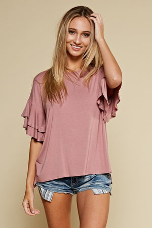 Ruffle Bell Sleeve - Multiple Colors