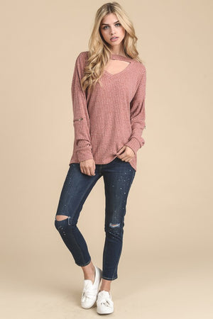 Choker Drop Sweater - Multiple Colors