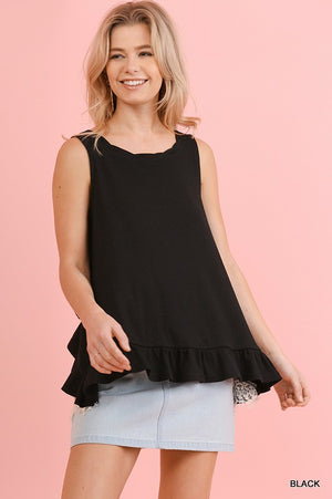 Layered Lace Back Top