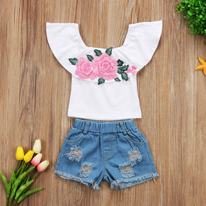 Rose Girl Short Set