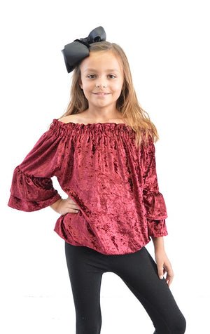 Velvet Off the Shoulder Tunic