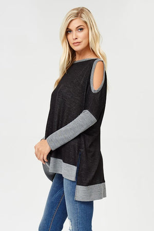Colorblock Cold Shoulder