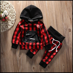 Red Plaid Set