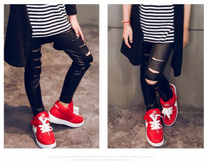 Punk Faux Leather Leggings