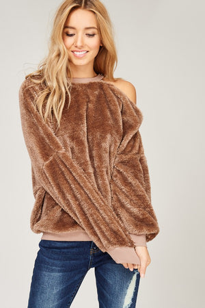 Shaggy Cold Shoulder  - Multiple colors
