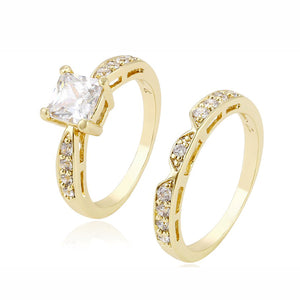 Gold Diamond Ring Set
