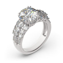 Load image into Gallery viewer, Melissa Sidestones Diamond Silver Ring