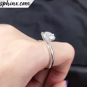6 Claws Moissanites Diamond Ring
