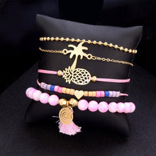 Load image into Gallery viewer, Bohemian Pineapple Heart Bracelet