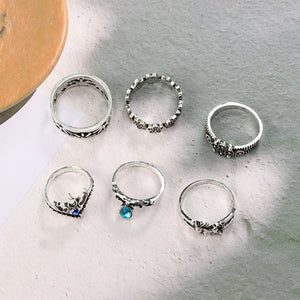 Luxria Blue Crystal Rings