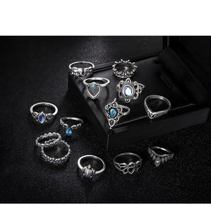 Luxria Punk Silver RIngs