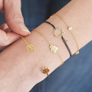 Bohemian Cloud Leaves Charm Bracelets