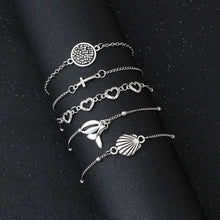Load image into Gallery viewer, Bohemian Beach Boho Silver Bracelets