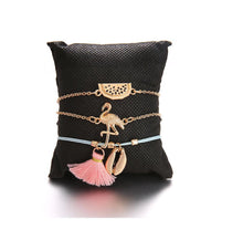 Load image into Gallery viewer, Bohemian Flamingo Charm Bracelet