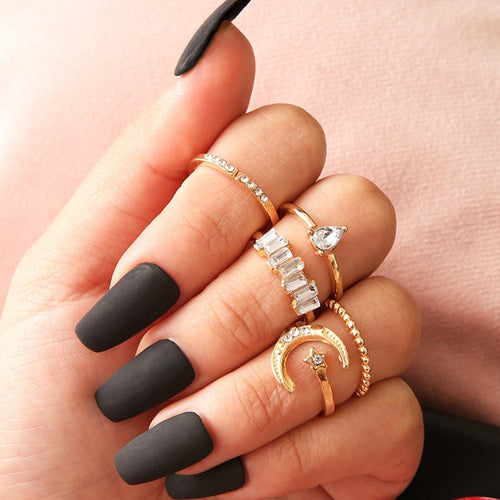 Luxria Crystal Knuckle Rings