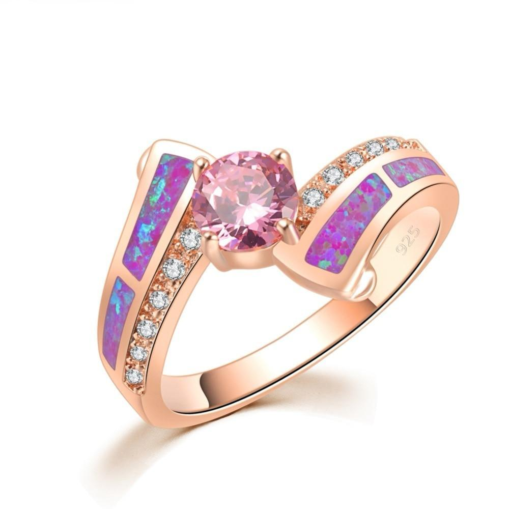 Purple Fire Opal Ring