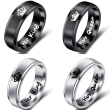 Load image into Gallery viewer, Luxeria Couple Titanium Steel Rings