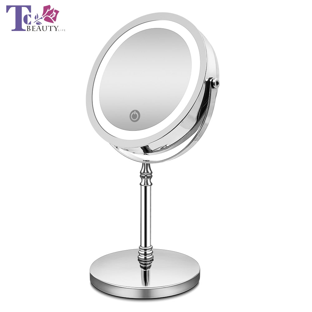 Makeup Mirror With Lights 10x Magnification Double Sided Vanity Mirror Royal Six