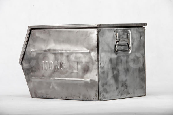 Set of 10 pcs Brushed steel Army Box