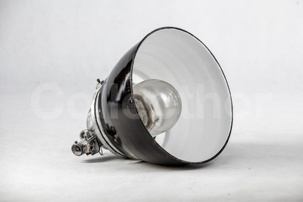 Small Brushed Factory Lamps