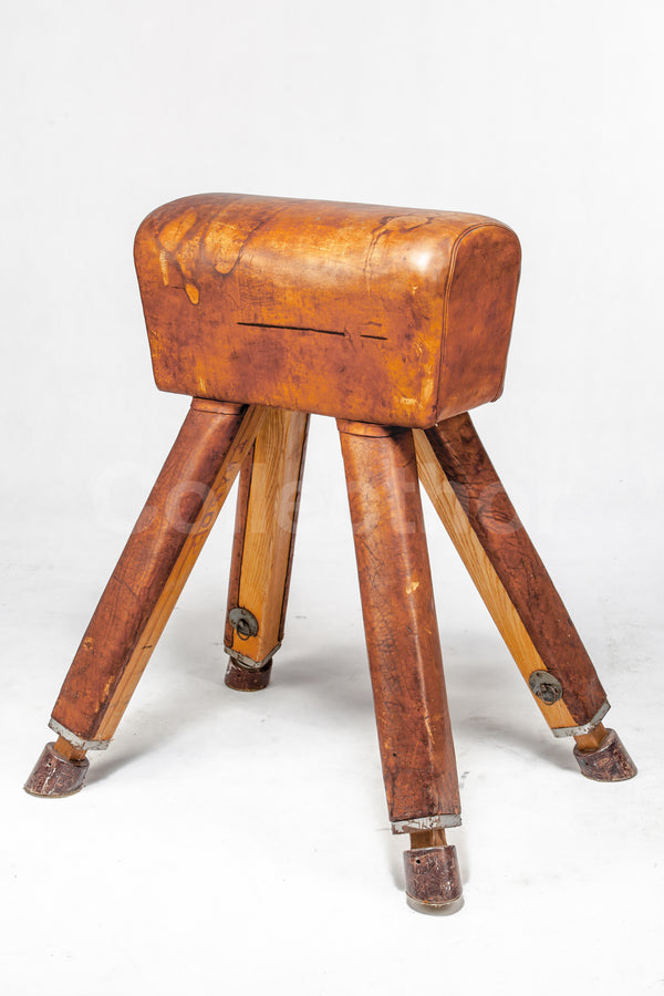 Vintage Leather Gymnastics Bench - Pommel Horse No.1