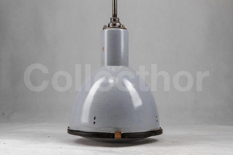 Enamel Hanging Lamp - Blue