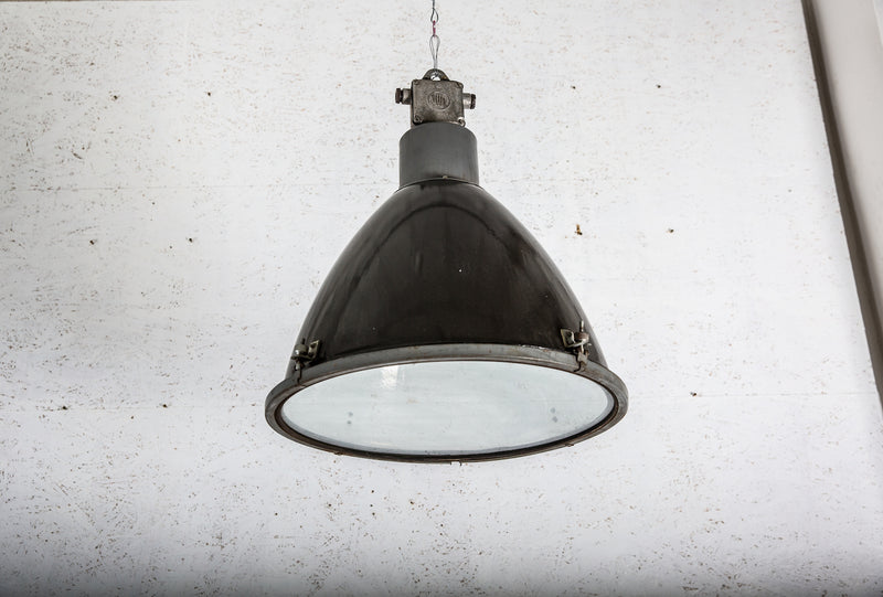 Industrial Large Hanging Glass Lamp