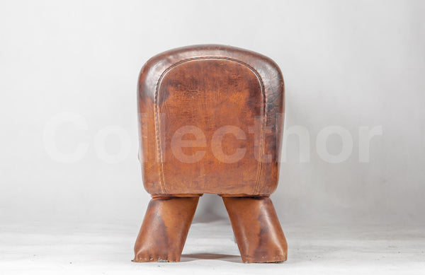 Vintage Leather Gymnastics Bench - Pommel Big Horse