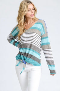 Long Sleeve Top With Tie