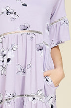 Load image into Gallery viewer, Lavender Floral Print Dress