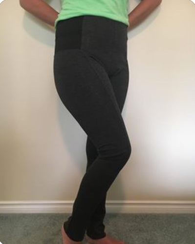 Dark Heather Grey Leggings - PLUS