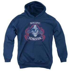 Bon Jovi - Forever Skull Youth Pull Over Hoodie