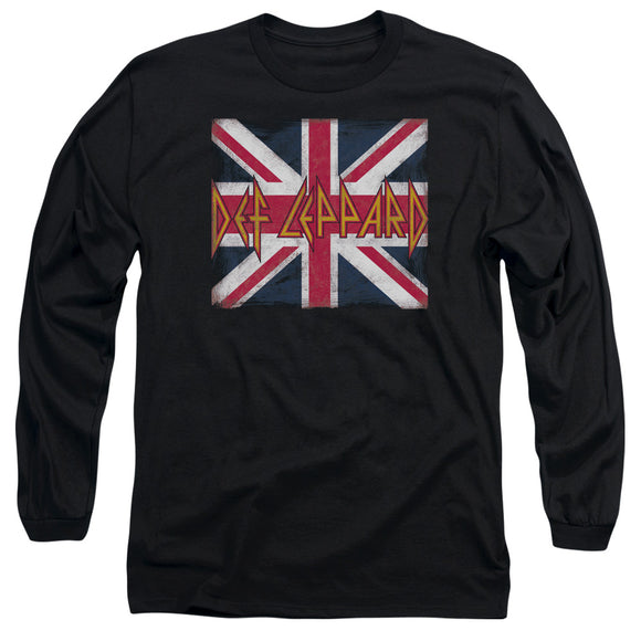 Def Leppard - Union Jack Long Sleeve Adult 18/1