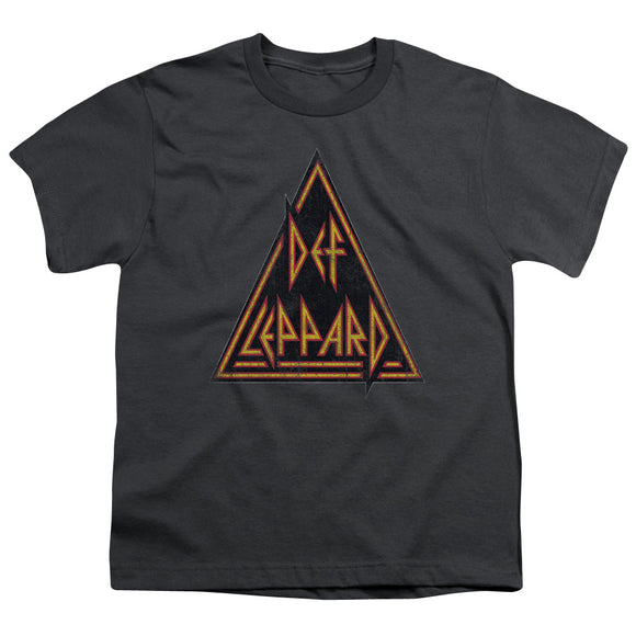 Def Leppard - Distressed Logo Short Sleeve Youth 18/1