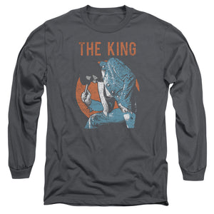 Elvis - Mic In Hand Long Sleeve Adult 18/1