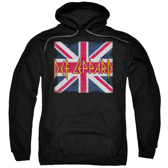Def Leppard - Union Jack Adult Pull Over Hoodie