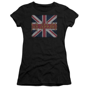 Def Leppard - Union Jack Premium Bella Junior Sheer Jersey